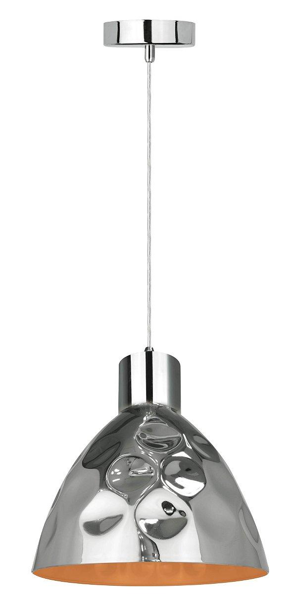 P16118-D22 - Pendente Metal Cromado Prata e Dourado - Atacadista - Premier Iluminação