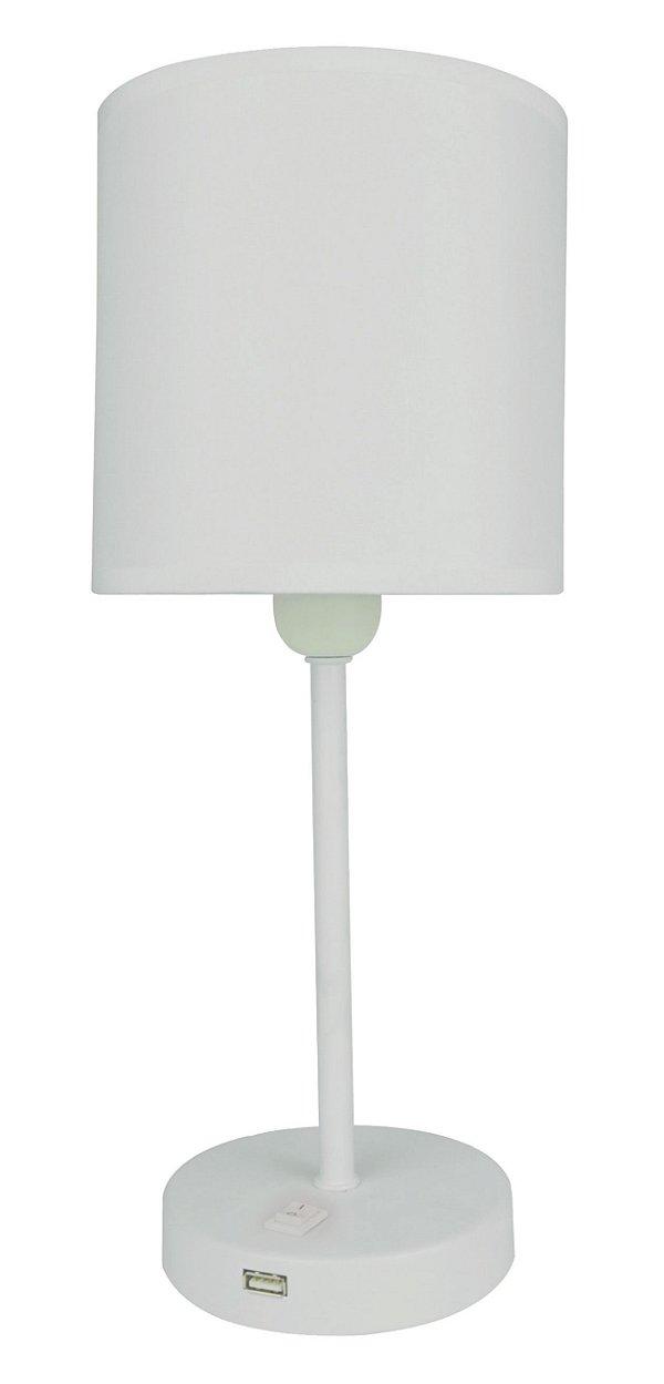 F15001A-1T-White – Luminária branca plug liga desliga na base - Atacadista - Premier Iluminação