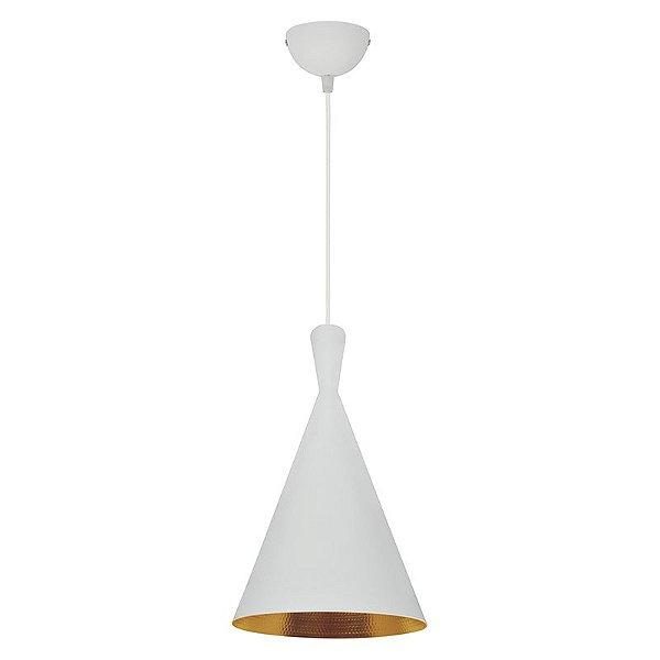 AL401-Gold - Pendente Alumínio Branco-Dourado-1 - Atacadista - Premier Iluminação