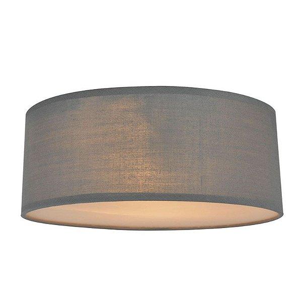 CL12029-D40-Grey – Plafon Tecido Cinza - Atacadista - Premier Iluminação