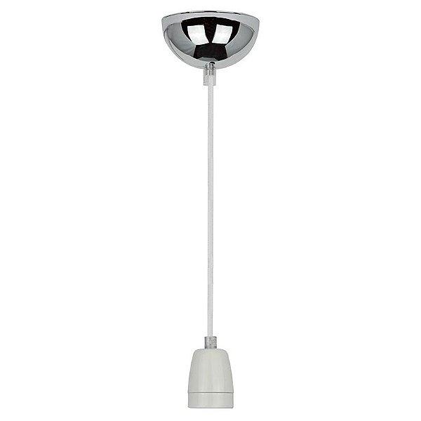 P110618-White – Fio bocal cerâmica branco - Atacadista - Premier Iluminação