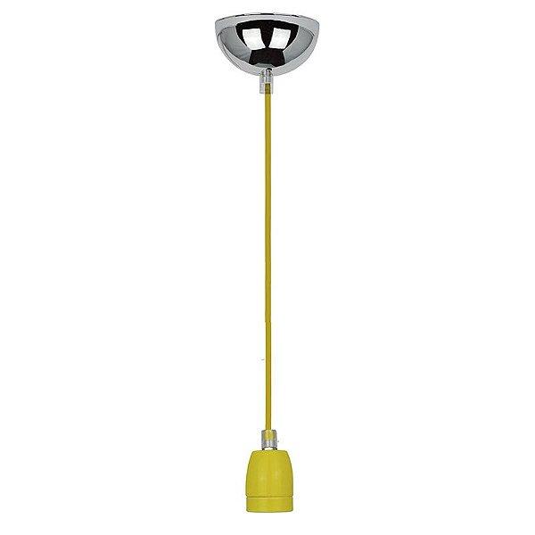 P110618-Yellow – Fio bocal cerâmica amarelo - Atacadista - Premier Iluminação