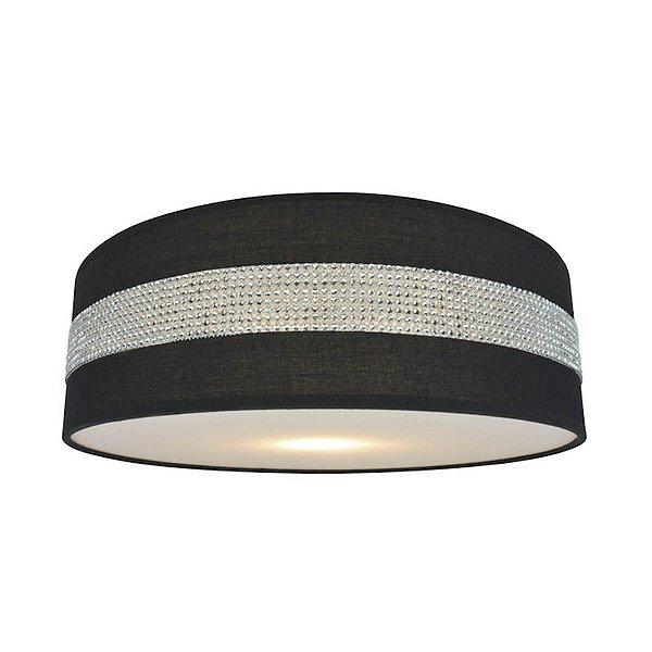 P14093B-3CL-Black – Plafon preto faixa brilhante - Atacadista - Premier Iluminação