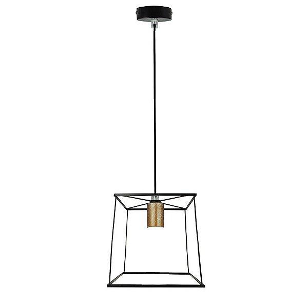 P14102-1 – Pendente rústico quadrado - Atacadista - Premier Iluminação