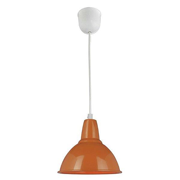 P157-D18-Yellow (Orange) - Pendente cúpula metal laranja - Atacadista - Premier Iluminação