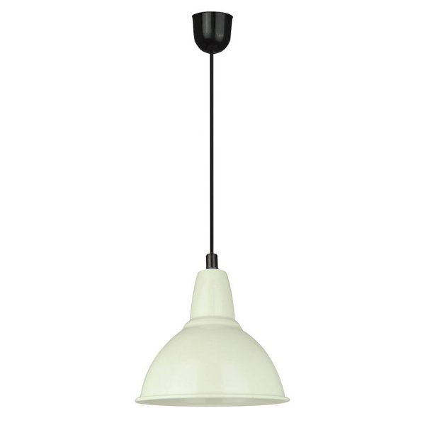P157-D18 White – Pendente cúpula metal branca - Atacadista - Premier Iluminação