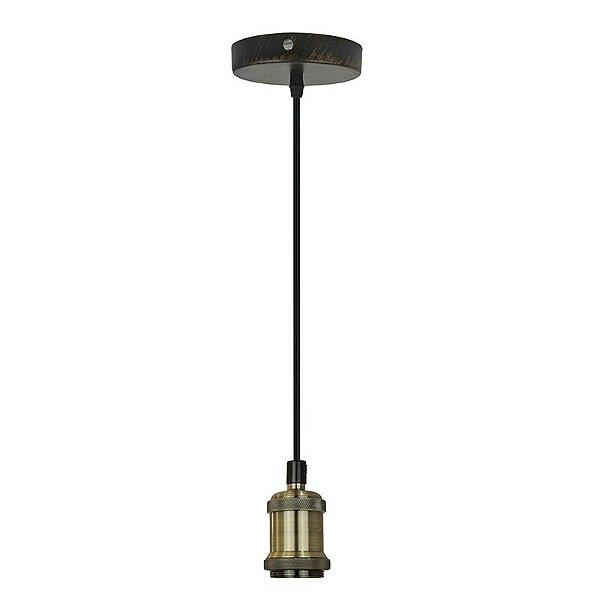 P15084 – Fio pendente metal ouro velho - Atacadista - Premier Iluminação