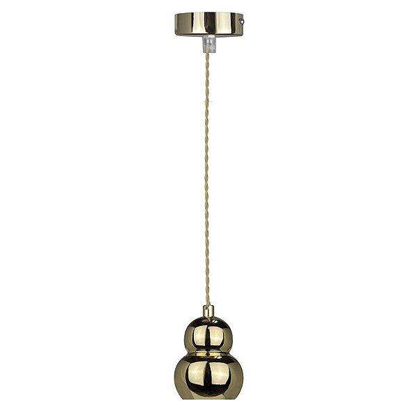 P15077-Gold – Pendente dourado esferas - Atacadista - Premier Iluminação