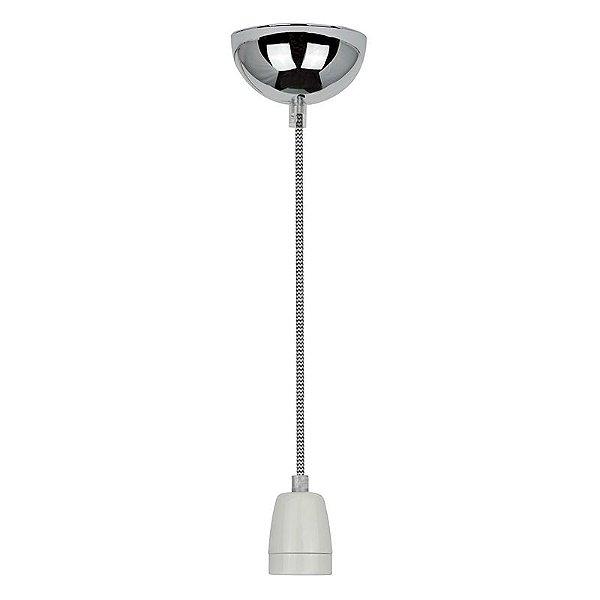 P110618-B-W – Fio bocal cerâmica preto-branco - Atacadista - Premier Iluminação