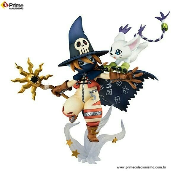 Wizardmon e Tailmon Digimon Adventure G.E.M. Megahouse original Encomenda