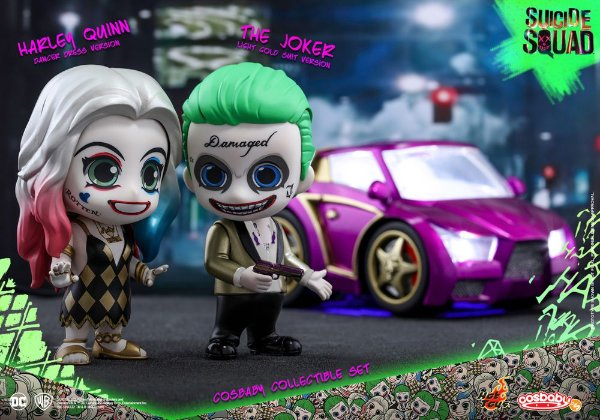 The Joker & Harley Quinn Suicide Squad Cosbaby Hot toys Original