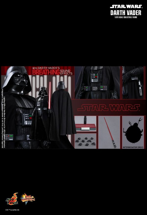 [ENCOMENDA] Darth Vader Star Wars Episodio IV Hot Toys 1/6 Original