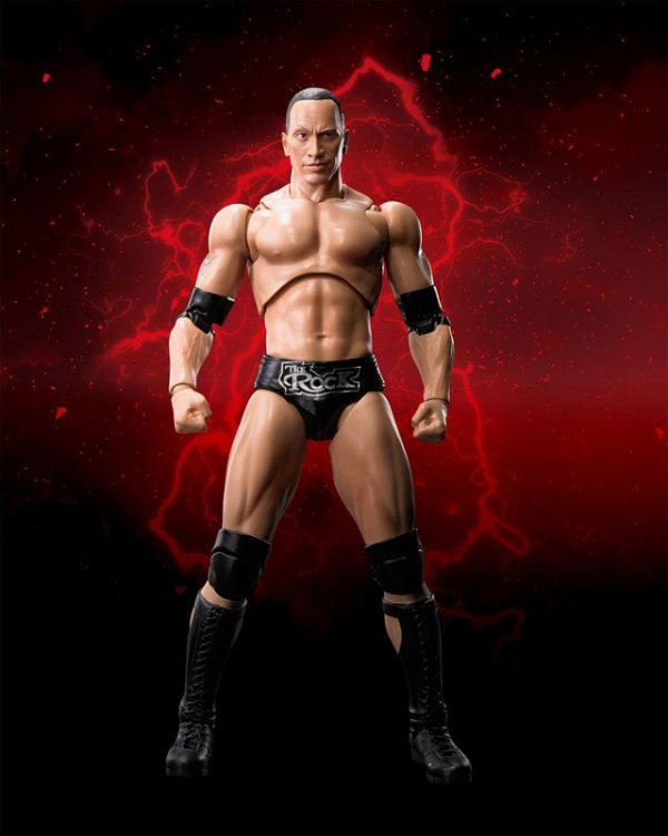 The Rock WWE Superstar Series S.H. Figuarts Bandai Original