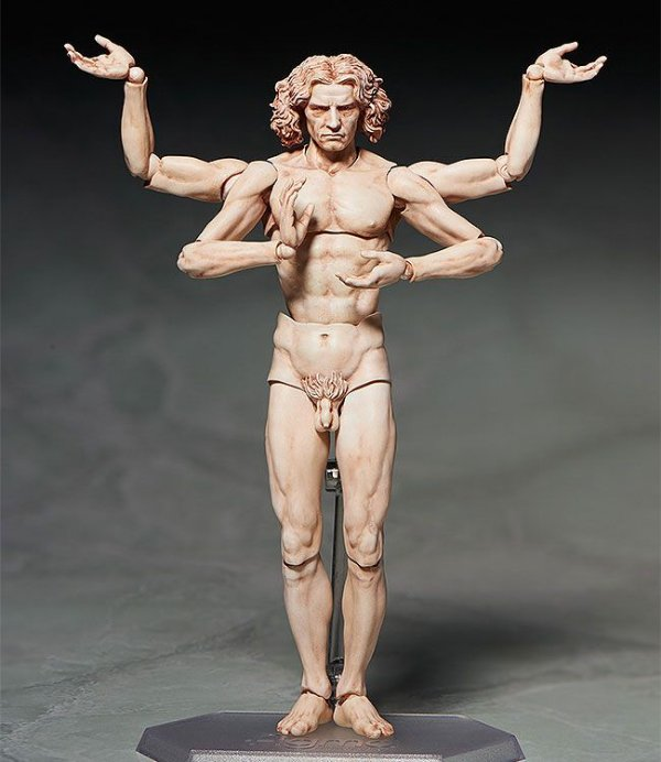 [ENCOMENDA] Vitruvian man The Table Museum FREEing Figma ORIGINAL