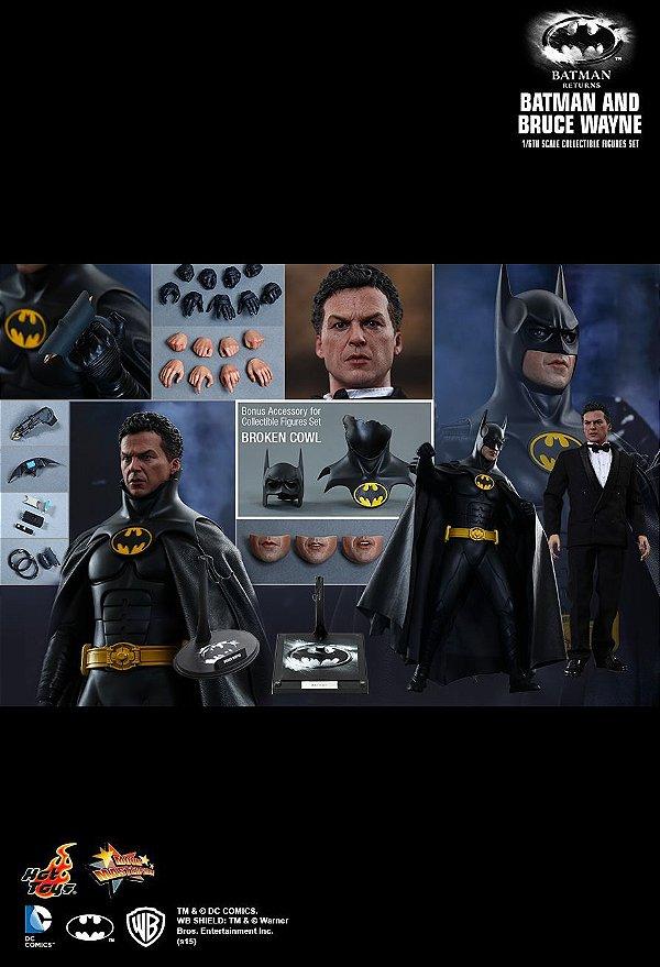 Batman & Bruce Wayne Batman Returns Hot Toys Escala 1/6 original