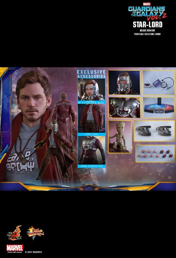 Star Lord Guardians of the Galaxy 2 Hot Toys Original Deluxe Edition
