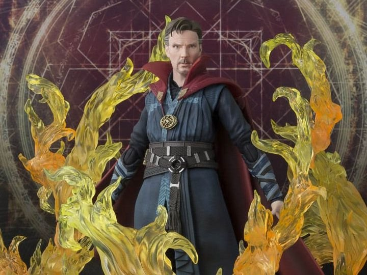 [ENCOMENDA] Doctor Strange & Burning Flame Set S.H. Figuarts Bandai Original
