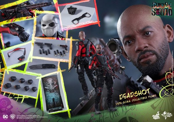 [ENCOMENDA] Deadshot Suicide Squad Movie Masterpieces Hot toys Special Edition