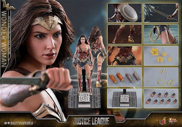 [PRE-VENDA] Mulher Maravilha Liga da Justiça DC Comics Movie Masterpiece Hot Toys Original