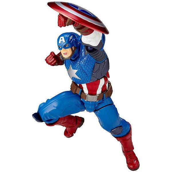 Capitão America Figure Complex Amazing Yamaguchi No.007 Revoltech Kaiyodo Original