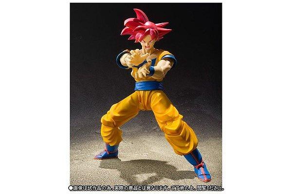 Son Goku Super Sayajin God Dragon Ball Super S.H. FIguarts Bandai Original