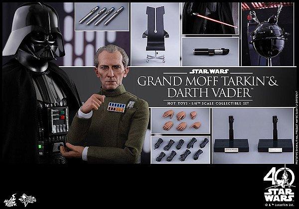 Grand Moff Tarkin & Darth Vader Star Wars Episode IV A New Hope Movie Masterpiece Hot Toys original