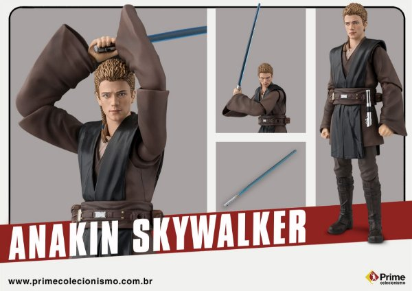Anakin Skywalker Star Wars Episodio II Attack of the Clones S.H. Figuarts Bandai original