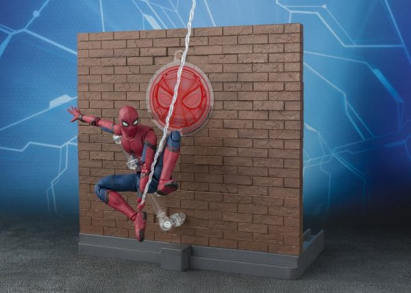 Homem Aranha Homecoming & Tamashii Option Act Wall set S.H.Figuarts Bandai Original