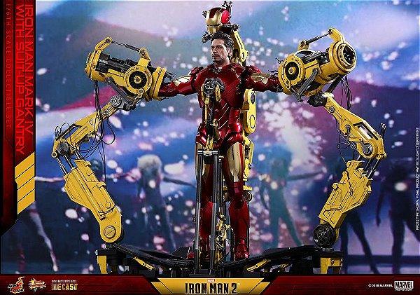 Iron Man Mark IV Diecast with Suit-up Gantry Iron Man 2 Movie Masterpiece Hot toys Original