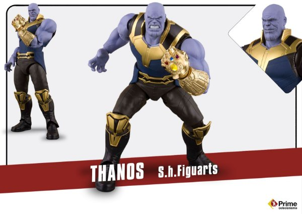 Thanos Vingadores Guerra infinita Marvel S.H. Figuarts Bandai Original
