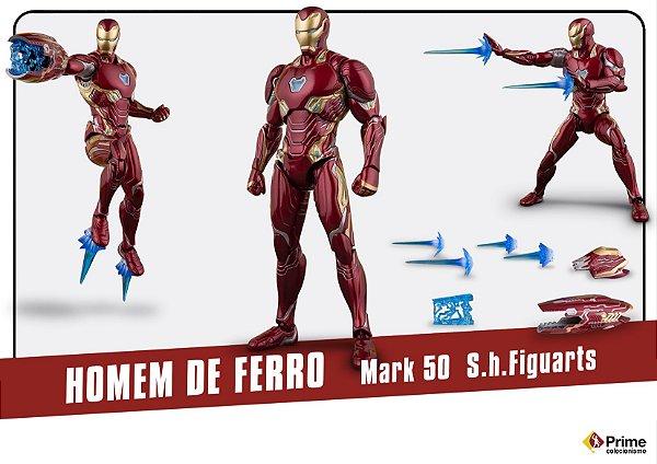 Homem de Ferro Mark 50 Vingadores Guerra infinita Marvel S.H. Figuarts Bandai Original