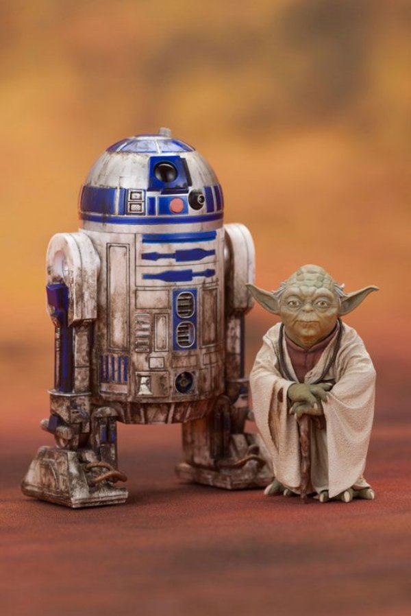 Yoda & R2-D2 Dagobah Star Wars Episode V O império contra ataca ARTFX+ Easy Assembly Kit Kotobukiya Original