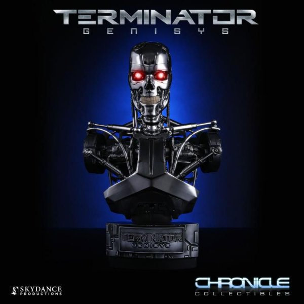 Busto T-800 Endoskeleton Exterminador do Futuro Genisys escala 1:2 Chronicle Collectibles Original