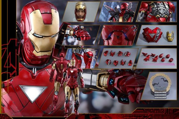 Homem de Ferro Mark VI Diecast Movie Masterpieces Hot Toys Original
