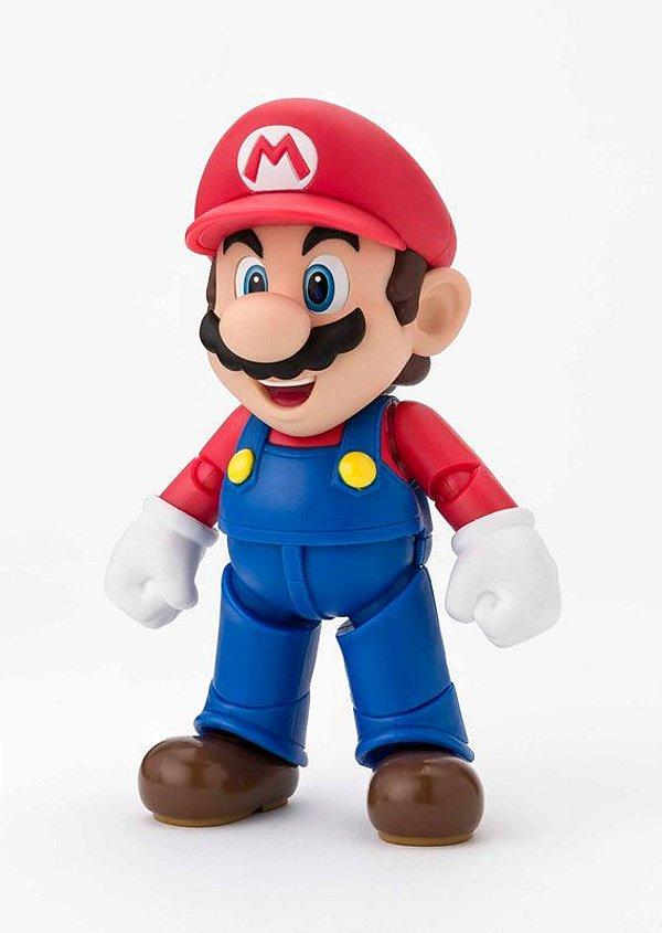 Mario New Package Ver. Super Mario Brothers S.H. Figuarts Bandai Original