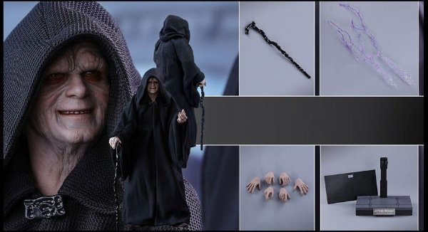 Imperador Palpatine Star Wars Retorno do Jedi Movie Masterpieces Hot Toys Original