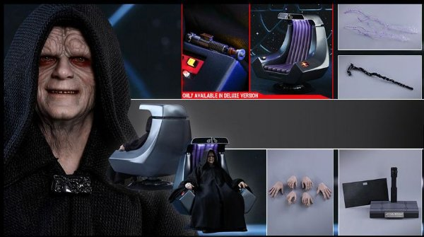 Imperador Palpatine versão deluxe Star Wars Retorno do Jedi Movie Masterpieces Hot Toys Original