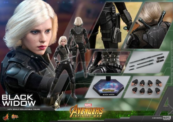 Viuva Negra Vingadores Guerra infinita Marvel Movie Masterpieces Hot Toys Original