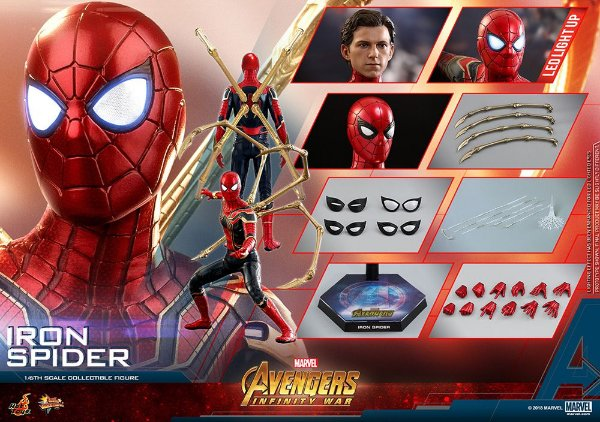 Homem Aranha de Ferro Vingadores Guerra infinita Marvel Comics Movie Masterpieces Hot Toys Original