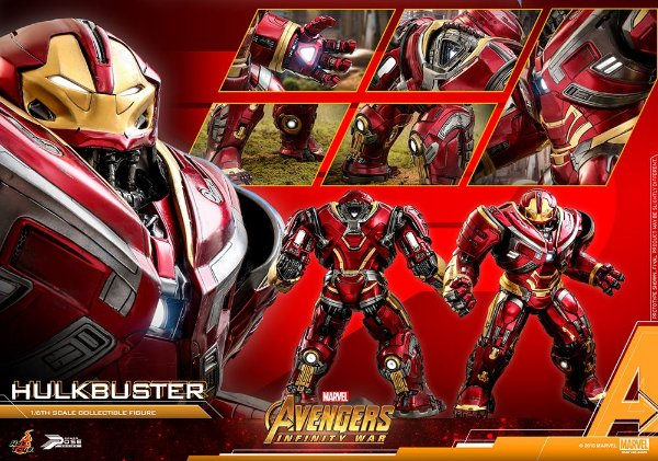 Hulkbuster 2.0 Vingadores Guerra infinita Marvel Comics Movie Masterpieces Hot Toys Original
