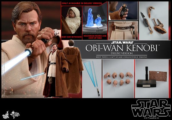 Obi-Wan Kenobi Star Wars Episodio 3 Vingança dos Sith Movie Masterpieces Hot Toys Original