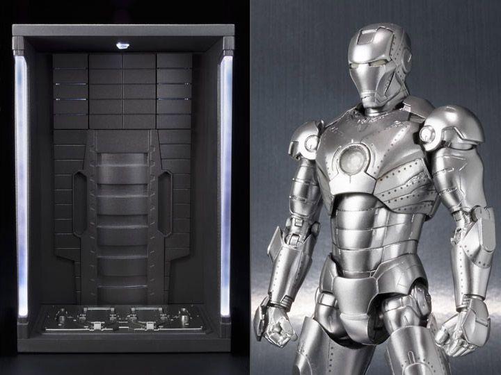 Homem de Ferro Mark II & Hall of Armor Set S.H. Figuarts Bandai Original