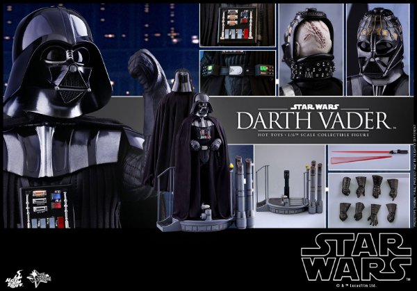 Darth Vader Episode V The Empire Strikes Back Movie Masterpiece Hot Toys Original