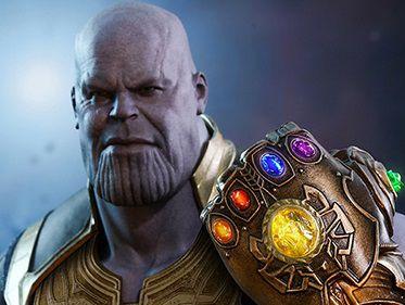 Thanos Vingadores Guerra infinita Marvel Movie Masterpieces Hot Toys Original