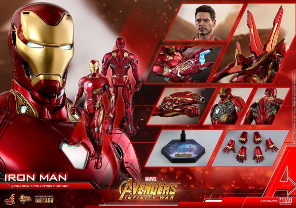 Homem de Ferro Mark 50 Vingadores Guerra infinita Marvel Comics Movie Masterpieces Hot Toys Original