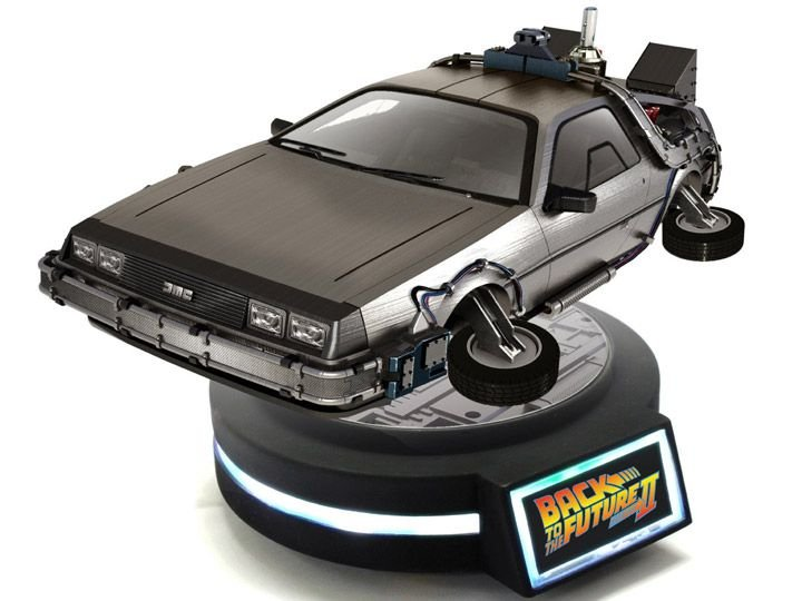 Delorean Back To The Future KidsLogic Magnetic Floating Original