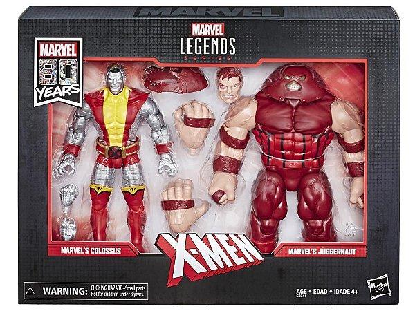 Colossus & Juggernaut Marvel Comics Aniversário 80 anos Marvel Legends Hasbro Original