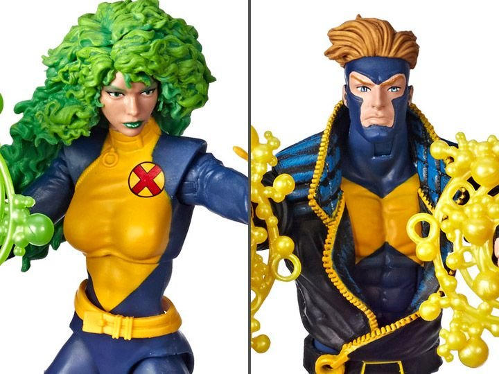 Havok e Polaris Marvel Comics Aniversário 80 anos Marvel Legends Hasbro Original
