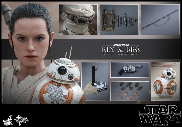 [ENCOMENDA] Rey & BB-8 Star Wars O despertar da Força Movie Masterpiece 337 Hot Toys