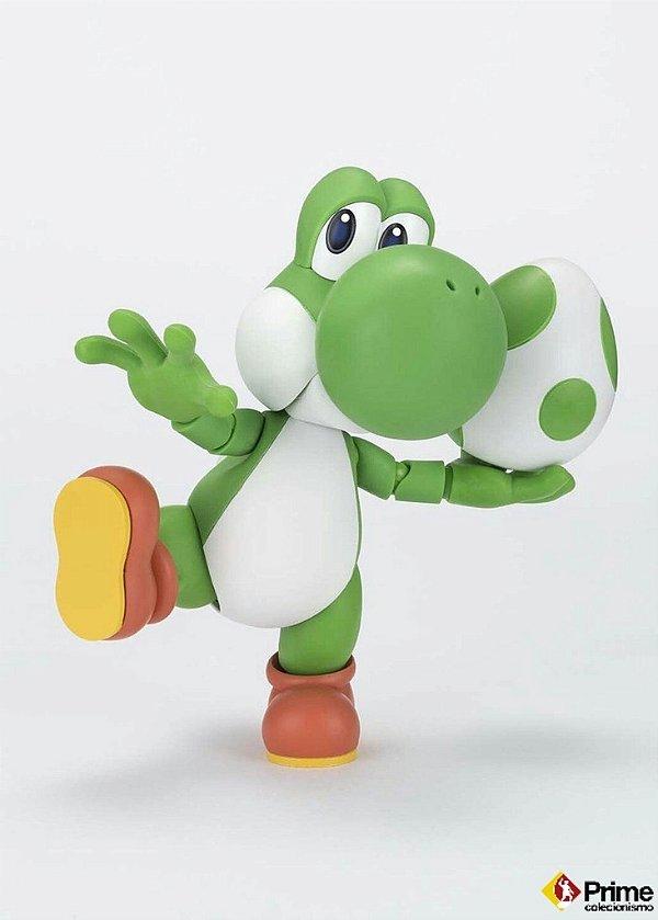 Yoshi S.H. Figuarts Bandai Mario Nintendo Original Com Bonus 1 UP!